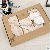 100% GOTS organic cotton Ten pieces sets of baby Clothing Sets gift box for newborn