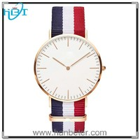 factory wholesale high quality paidu stainless steel watch with nylon strap