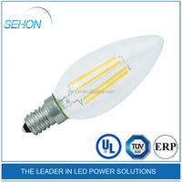 UL CUL LED light 2w 3w 4w candle light bulbs b15 e14 e27 led filament bulbs 2300k 2700k led bulbs filament