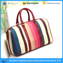 2012 Tote Travel Bag Organizer in Stripes Style