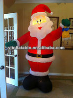 Newest design inflatable western christmas decorations santa