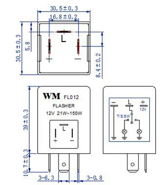 Auto    Flasher       Electronics       Flasher    12v 24v 150w Wm Fl012 fm  With Buzzer  Buy    Flasher    Auto