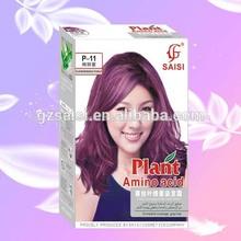 planta de ácido amino color de pelo manufactuere de exportación del tinte para el cabello