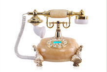 Old style jade telephone with caller ID