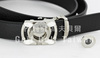 Without cap clip ball marker functional belt leather