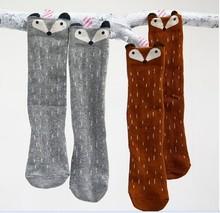 Soft Fox Pattern Korean Stockings for infant