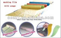 paintable plastic auto masking film