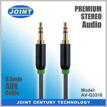 Green Fabric Braided Audio 3.5mm Stereo Aux Cable