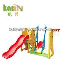 Kids Indoor Giraffe Plastic Slides Tube And Swing