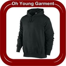 2012 Hot Custom Plain Black Blank Jackets,Cheap Long Sleeve Pullover Hoody