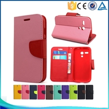 Hot sale Mixed colors pu leather flip cover case for sony xperia M