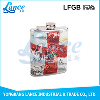 6oz wine carrier with water transfer printing logo