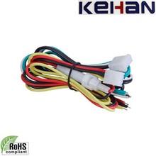 Buena calidad de la iso y rohs obediente remolque de encargo del mazo de cables, pin 6 auto conector del mazo de cables
