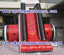 Red inflatable cimbing water slide SP-SL015