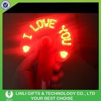 Flashing Slogan Hand Fan LED