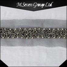 wholesale 5cm wide gunmetal beads trimming, plastic beads trimming wholesale, faux beads for decorating