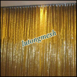 Colorful Metal sequin cloth window curtain for home decoration