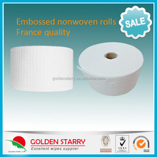 Dots embossed spunlace Nonwoven for wet wipes GSLNR004