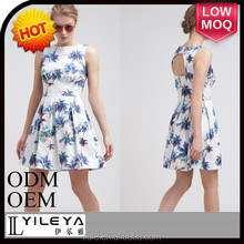 palm tree printed casual short summer new fashion dresses for women