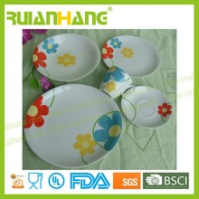 Children dinner set, color dinnerware with bright color, microwave safe