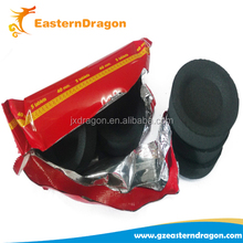 33mm round Three Kings bamboo Indonesian shisha charcoal,oak smokeless tablet shisha charcoal