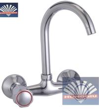 High Quality Zinc Alloy Wall Mounted Gooseneck Sink Mixer Faucets