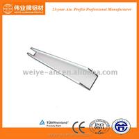 High quality various available sizes aluminium U profile
