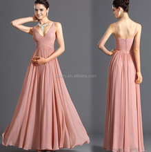 Sexy Lady Elegant Plus Size Chiffon Tank Top Dress Sleeveless Bridesmaid Wedding Dress