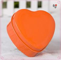 Hot selling fancy gift heart shape tin box