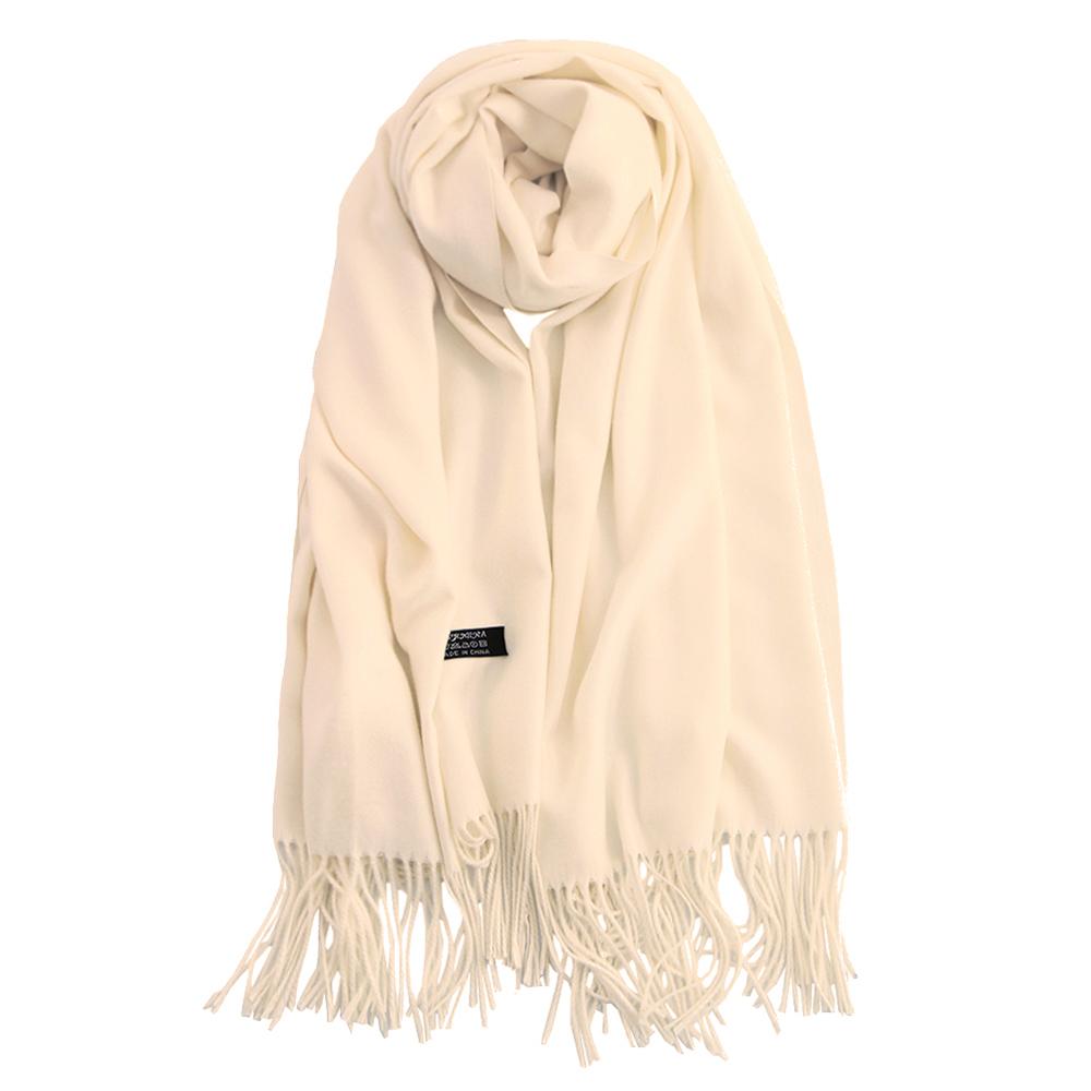 Style européen couleur crème personnalisé châles bufandas écharpe pashmina