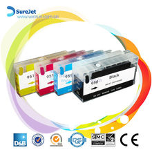 Surejet full/ empty refill ink cartridges for hp 950/951 printer with chip wholesale