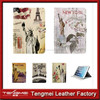New Statue of Liberty Mixed Style PU Leather Folio Case For iPad air mini 4