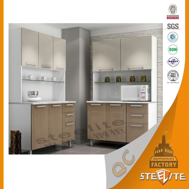 China cheap hot selling european style used prefab metal for Cheap metal kitchen cabinets