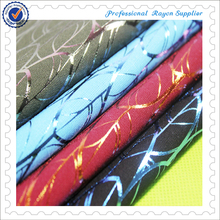 2015 new design rayon fabric with foil for lady dress