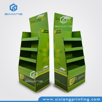 New Design Style and Excellent Cardboard Promotion POP Up Display Stand for Priced Supermarket Shelving