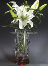 High quality glass flower vase for home decoration decoration CV-1021