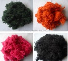 recycled cotton fiber /dyed cotton fiber