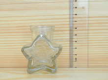High quality 40ml Small star shape gift bottle for paper stars clear glass bottle with screw cap brand new