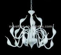 2013 New Venice Swan Modern Art Chandelier Lighting Modern Glass Swan Pendant light