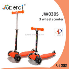 2015 new three wheel mini micro maxi foot push manual folding scooter kids