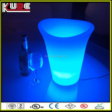 Cube Fashion Barware Colorful Changing Waterproof LED Ice Bucket & plastic ice bucket wiht light