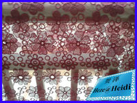wholesale high quality embroidery lace fabric made in china