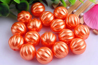 Look!! 2015 Fashion Halloween bulk 20mm acrylic plastic pearl melon beads,Loose bubblegum beads for jewelry making!!