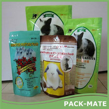 Best quality nylon zipper classical food packaging and pet food bag