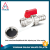 3-way brass motorized ball valve with plating female threaded PPR nipple union double control valve DN 20 PPR blasting nickel