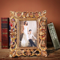 hollow out golden artist frame for 4x6 5x7 picture Pastoral style high quality advertising diy photo frame in wedding favors