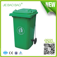 JIE BAOBAO!FACTORY MADE HDPE OUTSIDE TRASH CAN 120L WITH PEDAL