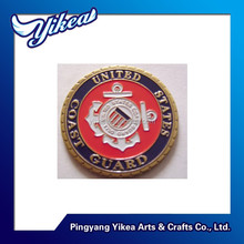 Challenge navy army soft enamel filled metal coin