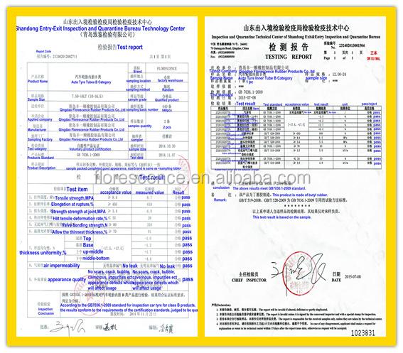 FLORESCENCE INNER TUBE TEST REPORT__