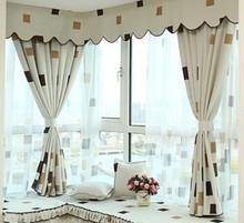 modern rustic design jacquard organza tulle curtain fabric for window
